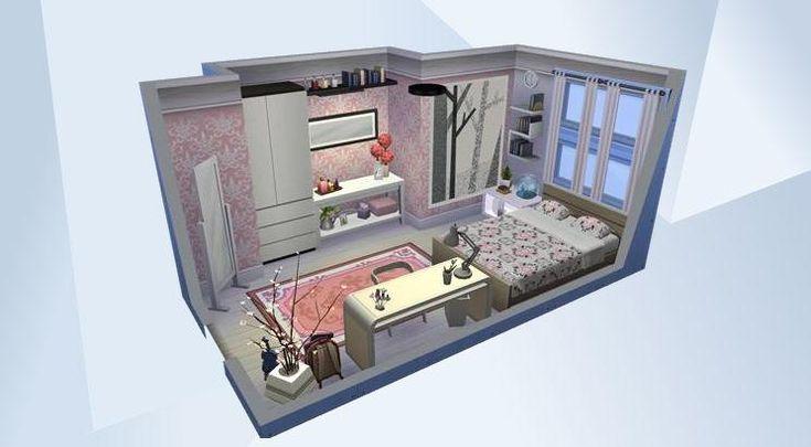 Nombre: Teenage Dream.  ¡Mira esta habitación en la galería de Los Sims 4! - #rosa #pink #teenager #white #bright