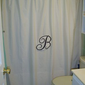 Monogrammed Shower Curtains Pottery Barn