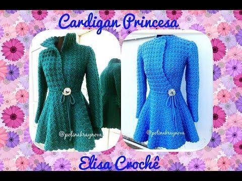 DIY Crochet Princess Cardigan Free Pattern Tutorial - Video