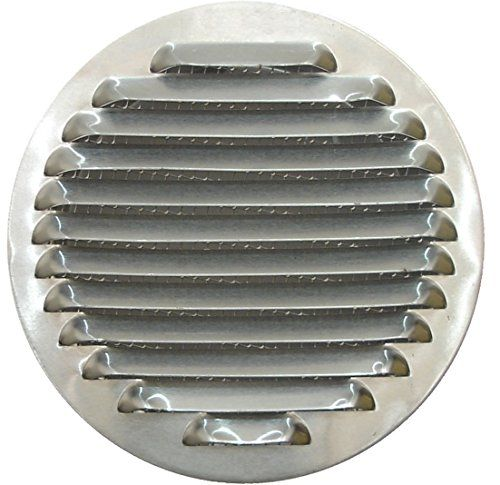 circulaire en aluminium Grille d'aération pour Ø 10,2cm (100mm), circulaire en aluminium Grille de ventilation 10,2cm (100mm), rond en…
