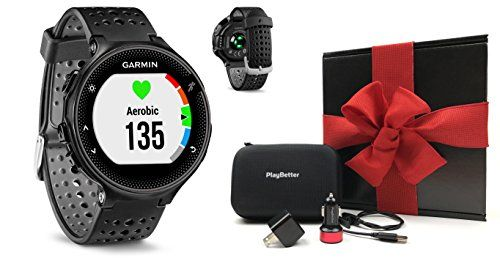 Garmin Forerunner 235 (Black) GIFT BOX Bundle | Includes GPS Running Watch with Wrist-Based Heart Rate/Color Display, PlayBetter USB Car/Wall Adapters, Protective Case | Black Gift Box   http://huntinggearsuperstore.com/product/garmin-forerunner-235-black-gift-box-bundle-includes-gps-running-watch-with-wrist-based-heart-ratecolor-display-playbetter-usb-carwall-adapters-protective-case-black-gift-box/