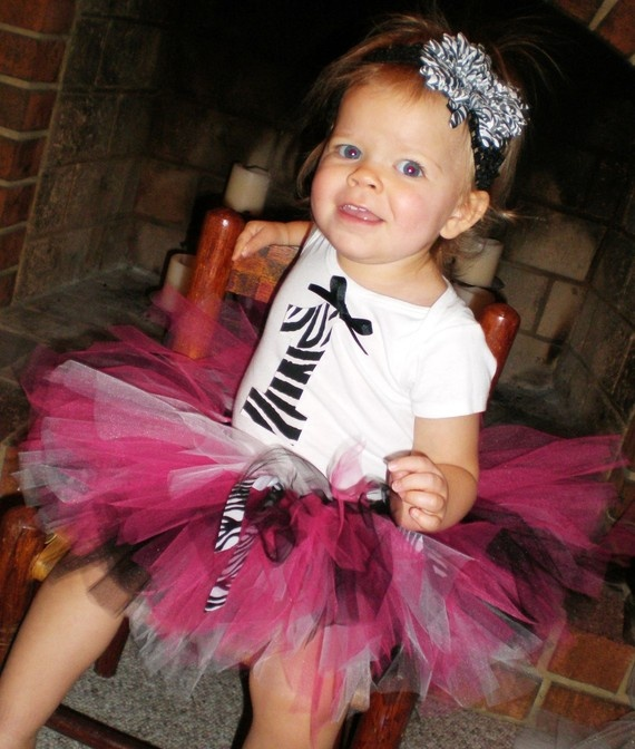 ADORABLE!!!!!!  (And I so love that the model gives me hugs!) Hot Pink and Zebra First Birthday Tutu Outfit  by SweetBabyTutus, $35.00