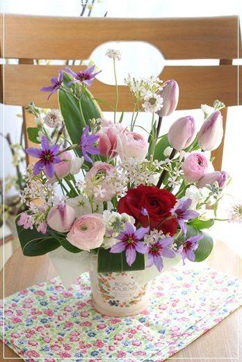 【今日の贈花】合格おめでとう♪ Flower note の 花日記 (横浜・上大岡 アレンジメント教室)