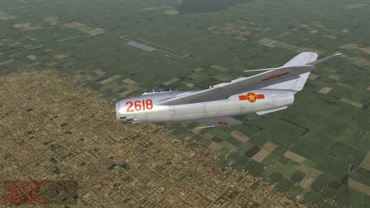 "Vietcong MiG-17 ""Fresco-C"" patrols the skyes above Hanoi circa 1975."