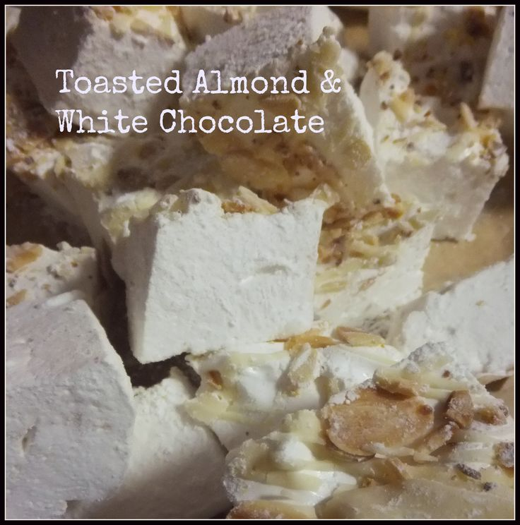 White Chocolate & Toasted Almond Handmade Marshmallow by Mallow Mia, Gourmet Marshmallows handmade in Ireland