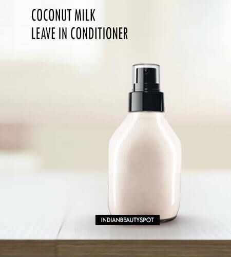 DIY Homemade Coconut Milk Leave in Spray on Conditioner for super shiny soft hair DIY beauty #diy