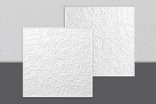Decosa Dalle de plafond Parma, blanc 50 x 50 cm – PRIX SPECIAL LOT DE 2 SACHETS (= 4m2): En polystyrène Prix promo sur quantitatif…