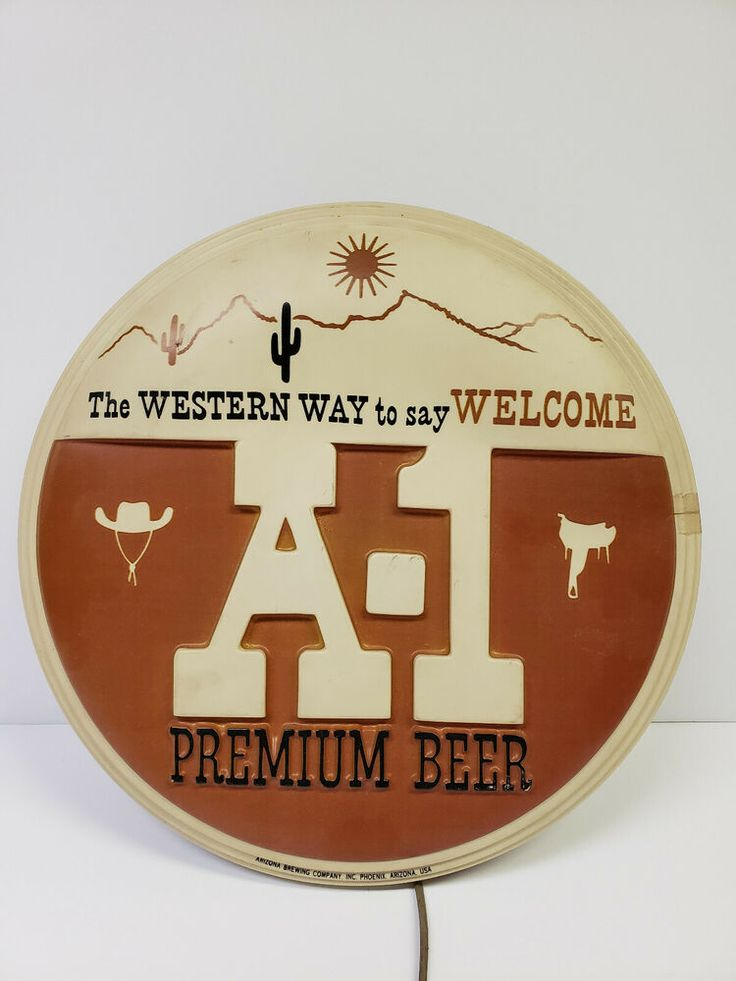 A-1 premium beer lighted sign, Arizona Brewing Company