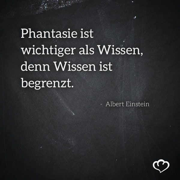 One of my favorite quotes ever: Imagination is more important than knowledge, because knowledge is finite. #Zitat #Phantasie #AlbertEinstein