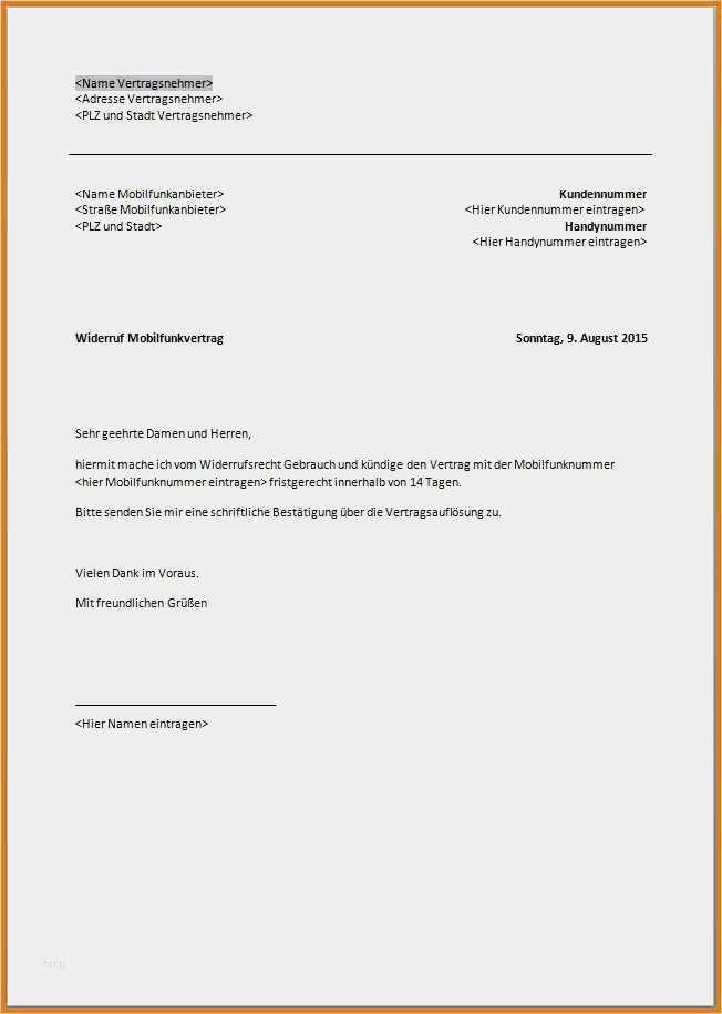 Kundigung 1 1 Sonderkundigung Vorlage Kundigung 7