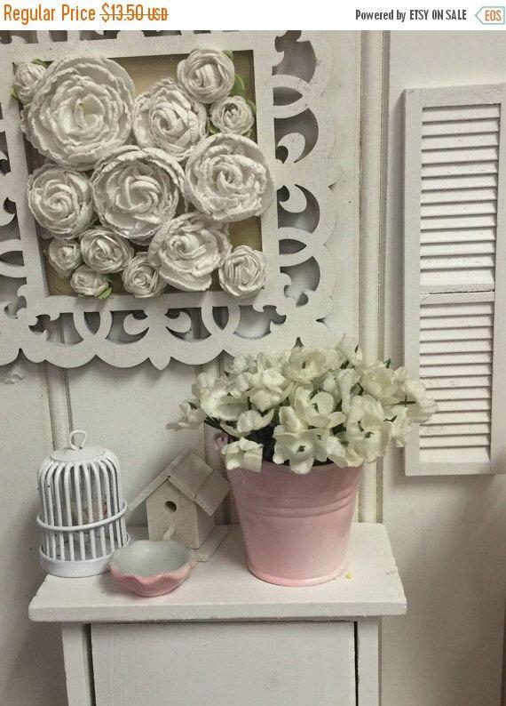 Aniversario venta Primavera mano rosa cubo pintado de flores- de RibbonwoodCottage en Etsy https://www.etsy.com/mx/listing/270102984/aniversario-venta-primavera-mano-rosa