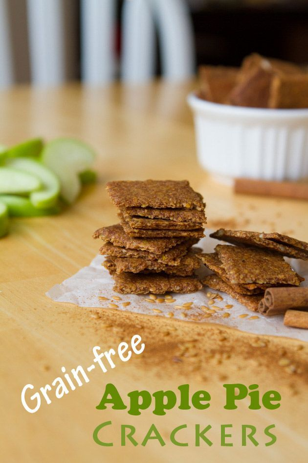 Apple Pie Crackers (Grain-free + Nut-free) - pretty tasty crackers.  They were easy to make and the texture really nice.  Great paleo snack.