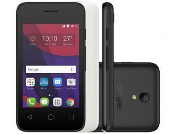"Smartphone Alcatel PIXI4 3,5 4GB Preto Dual Chip - 3G Câm. 5https://www.magazinevoce.com.br/magazinesoufeitosaMP Tela 3.5"" Proc. Dual Core"