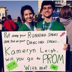 how to ask somebody to prom using cross country - Google Search