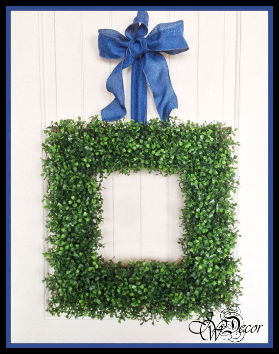 Square boxwood wreath artificial boxwood wreaths spring wreath