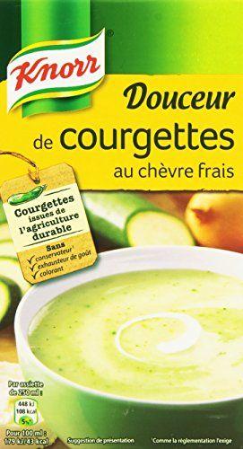 Knorr Douceur de Courgettes au Chèvre Frais 1000 ml: 1l Courgettes issues de l'agriculture durable. Sans colorant, sans exhausteur de goût,…