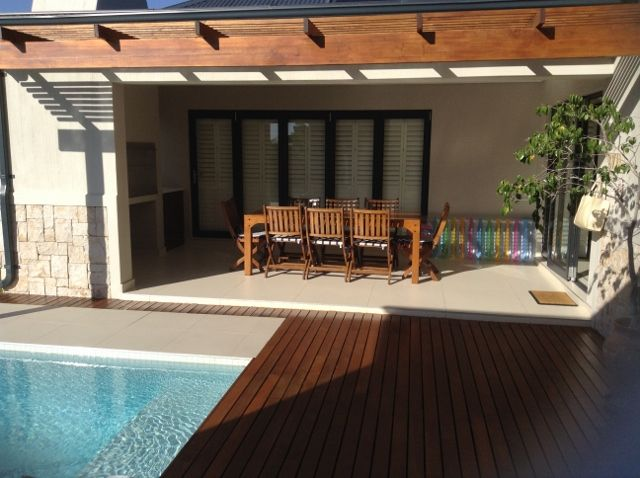 Optional - wooden decking and pool