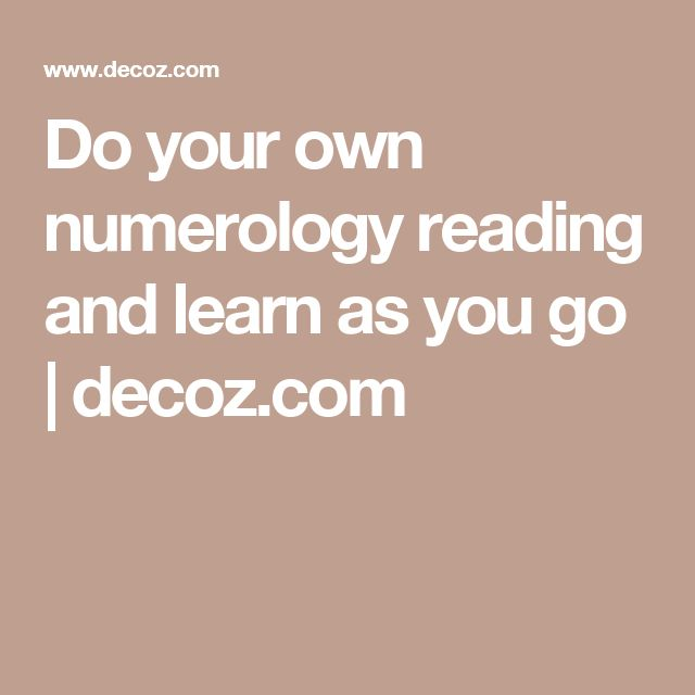 Do your own numerology reading and learn as you go | decoz.com #numerologyreading