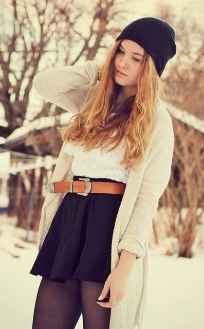 Girly Winter Layers.