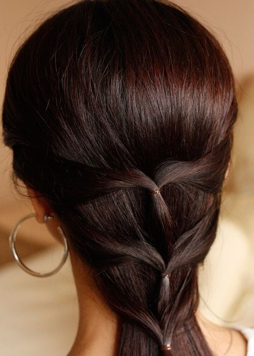 This is one interesting way to actually show off your thin hair! And this actually will work better on thin hair. Comb back all your hair. Take strands from both sides of hair and twist it back lightly. Do this in multiple pairs. Show off by adding pretty little hair clips.