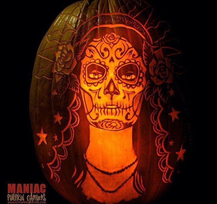 640 best dia de los muertos images on pinterest day of for Skeleton pumpkin design