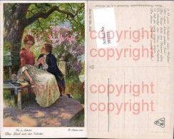 501221,Künstler Ak F. Elsner Friedrich Schiller Lied v. d. Glocke Paar Liebe