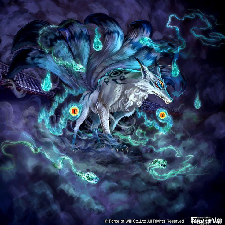 【Force of Will】 『九尾の狐』  カードゲーム「FOW」 2016年12月発売予定 ラピスクラスタ第二弾「運命の再開」の 《九尾の狐》を描かせていただきました。 http://fow-tcg.com/news/982590_lel-preview-05/  羅生門のような場所で正体を現した狐の妖怪という感じです。 管狐(くだきつね)と呼ばれる憑き物をまとわせ周囲に毒ガスを漂わせています  皆さんがゲームプレイ時にお目にかかりし時、ファンタジーの世界を膨らませる エッセンスの一つになれば幸いです  (C) FORCE OF WILL Co.,Ltd. All Rights Reserved. http://fow-tcg.com/