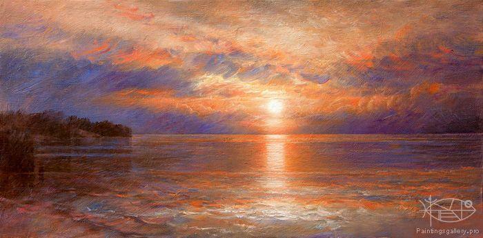 Brahinsсkiy Arthur - 'Sunset on the Balaton Lake'