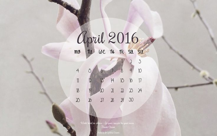 April 2016 Desktop Wallpaper Calendar — ENOVATE MARKETING
