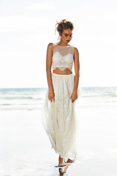 Hochzeitskleider 2015: Crop Top