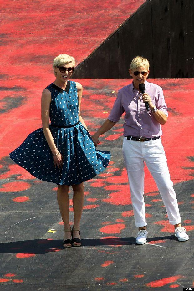 ellen degeneres street style | Ellen Degeneres And Portia De Rossi Take Over Sydney - MyDaily UK