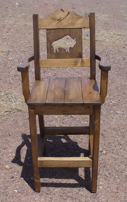 Western Ranch Bar Stools With Arms Ranch House Decor