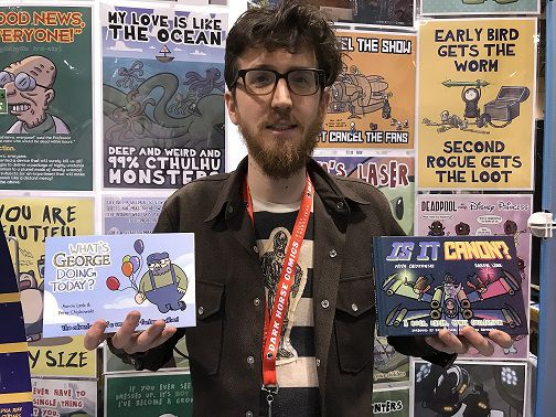 At Toronto Comicon 2018, Peter Chiykowski talked about What's George Doing Today and Is It Canon? and when both will be available for readers.