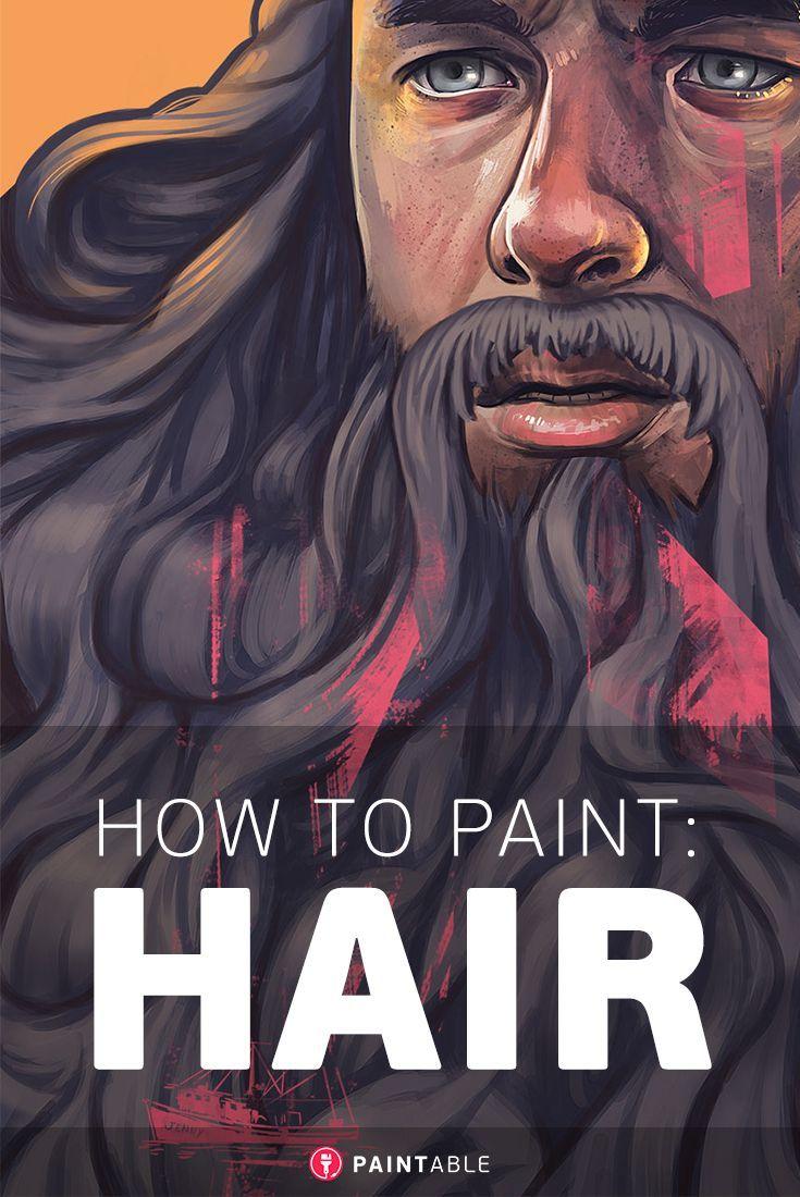 Paint Hair: Digital painting tutorial on Paintable.cc