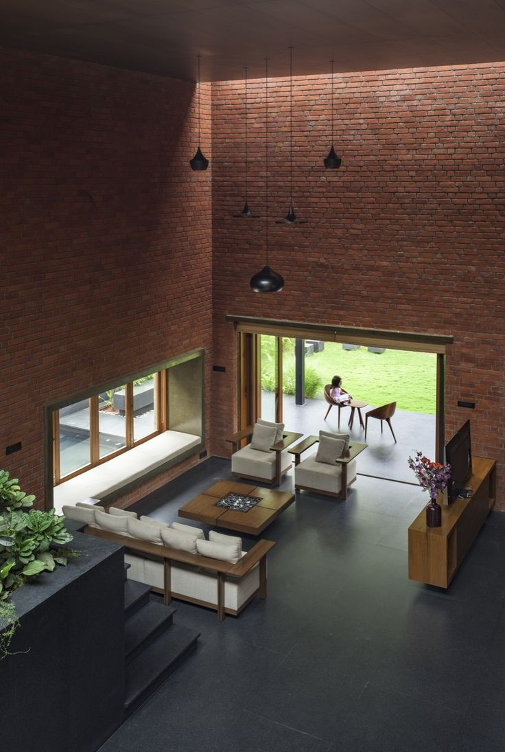 gallery of brick house a for architecture 11 - Slate Cafe Decoration