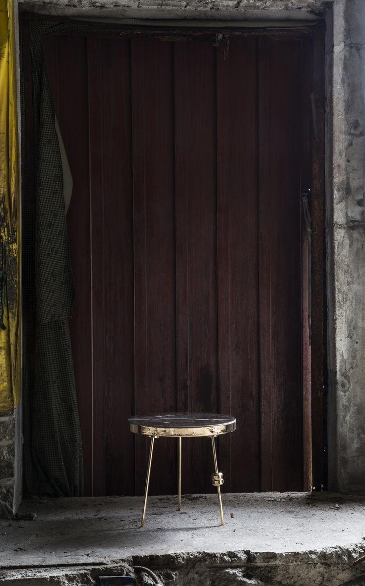 Richarm Table 01 St. Laurent + Metal (Gold, H:300)