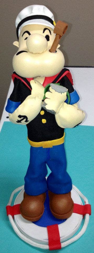 Popeye The Sailor  centerpiece cake topper  Birthday decor on Etsy, $28.00