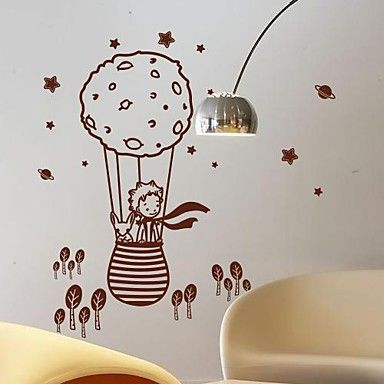 Wall Stickers Wall Decals,  Modern The little prince and the fox in a balloon PVC Wall Stickers – EUR € 21.48