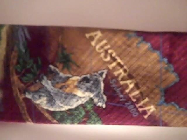 Endangered Species Austrailia Map 2000 Mens Neck Tie  USA 100% Silk #EndangeredSpecies #Tie
