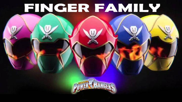 Power Rangers Finger Family Finger Family Rhyme Nursery Rhymes for Kids ...