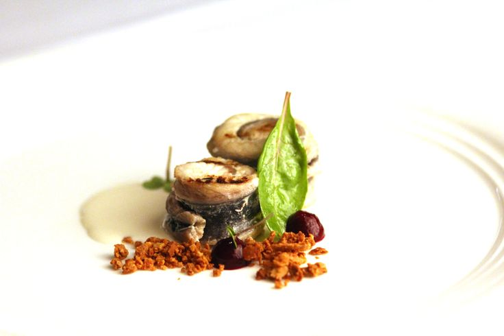 Rosted Eel:  almond, red turnip
