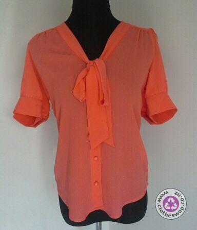 Clotheswap - gorgeous coral blouse