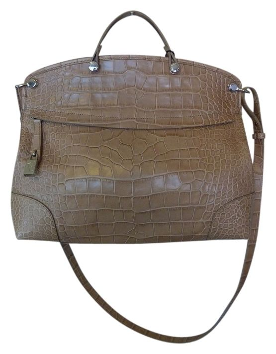 Furla Sabbia Croc Embossed Leather Piper Beige Satchel. Save 21% on the Furla Sabbia Croc Embossed Leather Piper Beige Satchel! This satchel is a top 10 member favorite on Tradesy. See how much you can save