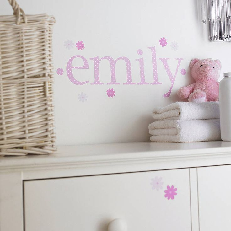 Personalised Pink Polka Wall Letters  by Kidscapes