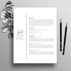 Plantilla de curriculum vitae profesional plantilla de carta de presentación, referencias, plantilla de curriculum creativo, curriculum vitae profesor, descarga Digital instantánea, Anna