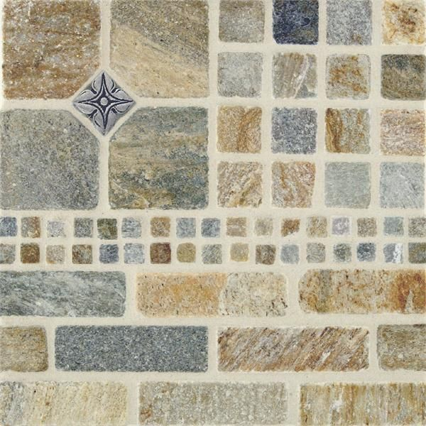 Tumbled Slate Tiles from Stone & Pewter Accents