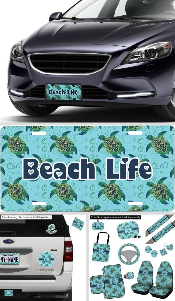 Sea Turtle License Plate Wall Hanging