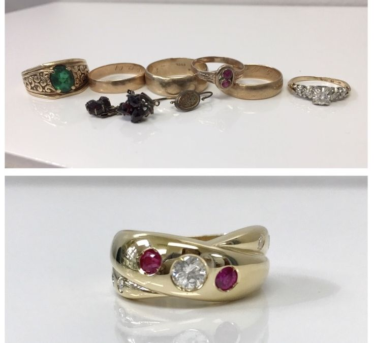 Took some very cherished pieces and made them into one newly loved ring. 😊