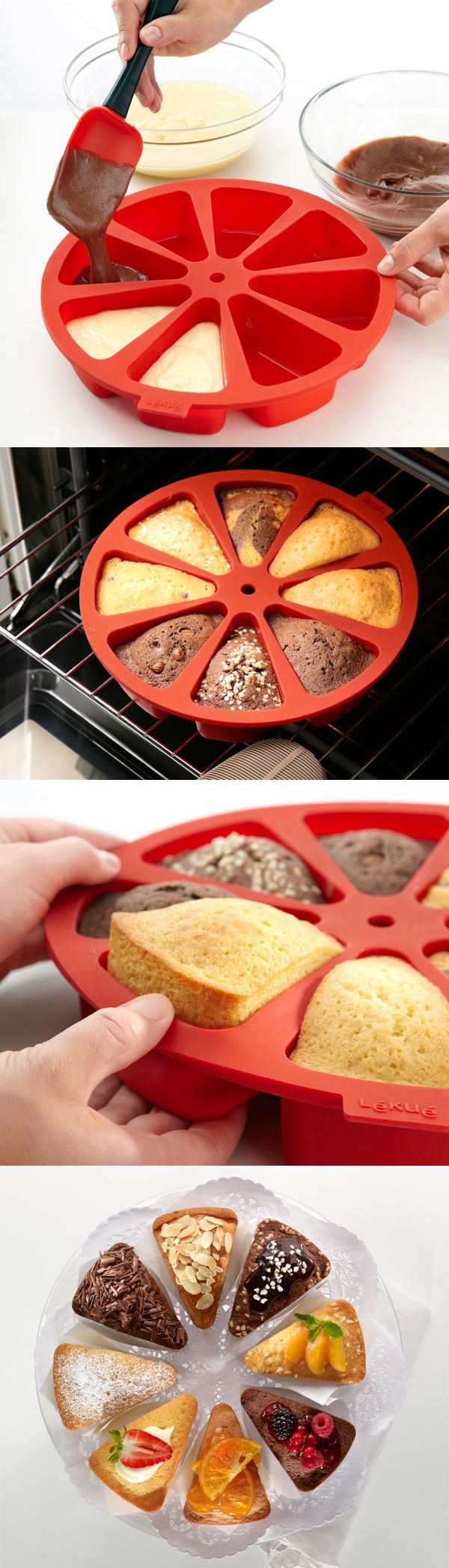 Cake mold for individual slices. Perfect for desserts and cornbread!