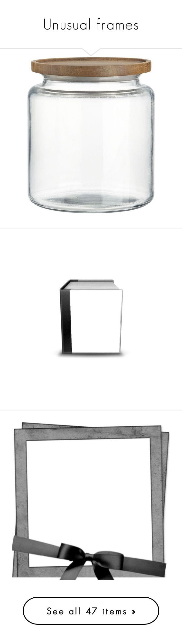 """""""Unusual frames"""" by jdee77 ❤ liked on Polyvore featuring home, kitchen & dining, food storage containers, fillers, items, jars, accessories, glass storage canisters, lidded glass jars and storage jars"""